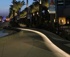 Park Lighting, Cove Lighting, Indirect Lighting, Outdoor Lighting, Anaheim Convention Center, Convention Centre, Light Architecture, Landscape Architecture, Arch Light