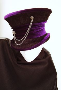 Lady Nightshade vintage Gothic Mad Hatter Top Hat by Blackpin