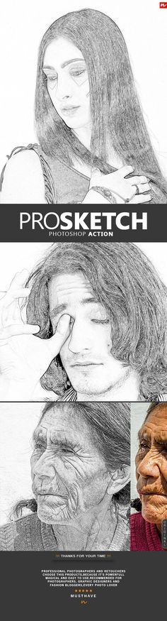 Realistic pencil sketch photoshop action download here https graphicriver net