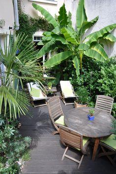 jardin de ville à Enghien-les-Bains (95). Photo et création Taffin