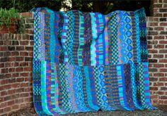 Kaffe Fassett Artisan Off Stripe Quilt Kit 80 by 94 inches Quilt Kits, Quilt Blocks, Scrap Quilt Patterns, Striped Quilt, Colorful Quilts, Blue Quilts, String Quilts, Quilt Stitching, Quilting Tutorials