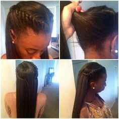 This is a really cute idea for straight hair.  I will surely try this.