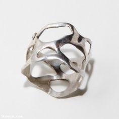 Shamza.com: Bio A, sterling silver organic ring, $45.00    want thisss