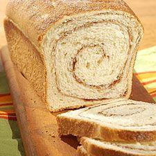 high-fiber cinnamon swirl bread