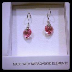 Swarovski small pierced Earrings  Beautiful small pink earrings ...brand new Swarovski Accessories