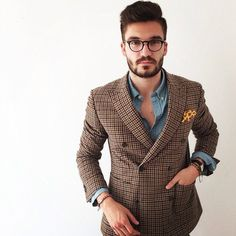 Brown Squared Suit