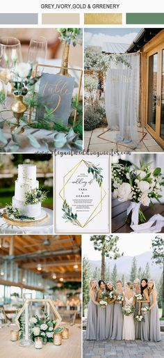 elegant light grey,ivory and gold garden wedding color ideas wedding themes 5 Amazing Wedding Color Palettes Inspired by EWI Floral Invitations Invitation Floral, Elegant Invitations, Modern Wedding Invitations, Wedding Themes, Diy Wedding, Rustic Wedding, Dream Wedding, Wedding Day, Wedding Hacks