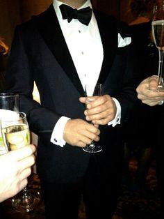 gentlemen, standing with drinks
