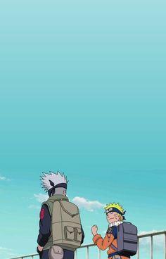 - Kakashi Hatake x Naruto Uzumaki. Naruto Shippuden Sasuke, Naruto Kakashi, Anime Naruto, Art Naruto, Wallpaper Naruto Shippuden, Boruto, Naruto Wallpaper Iphone, Cute Anime Wallpaper, Cartoon Wallpaper