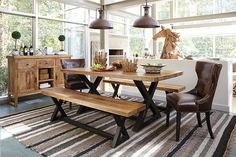 Two-tone Wesling Dining Room Table View 1