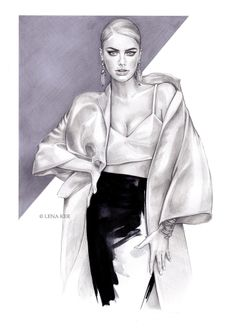 Beautiful fashion illustrations you need to see: Lena Ker - Fashionising.com