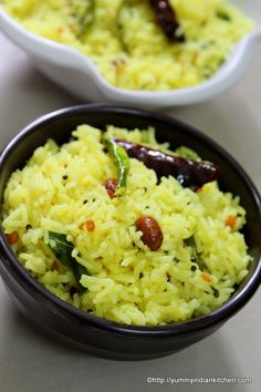 Lemon rice is a traditional and a popular recipe down south popularly called as chitrannam or nimmakaya pulihora in telugu version/ lingo of the recipe. Andhra Recipes, Halal Recipes, Veg Recipes, Kitchen Recipes, Indian Food Recipes, Asian Recipes, Vegetarian Recipes, Cooking Recipes, Pulihora Recipe