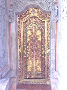 The wonderfully ornate hand carved door to my room in Bali