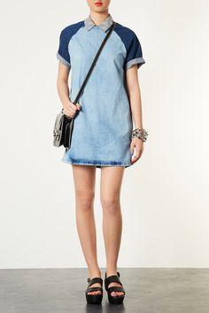 bleach contrast dress #topshop