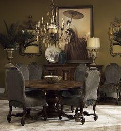 Tuscan Decorating Ideas Blog | Tuscan Dining Table Decor Photograph | Tuscan Dining Room Fu