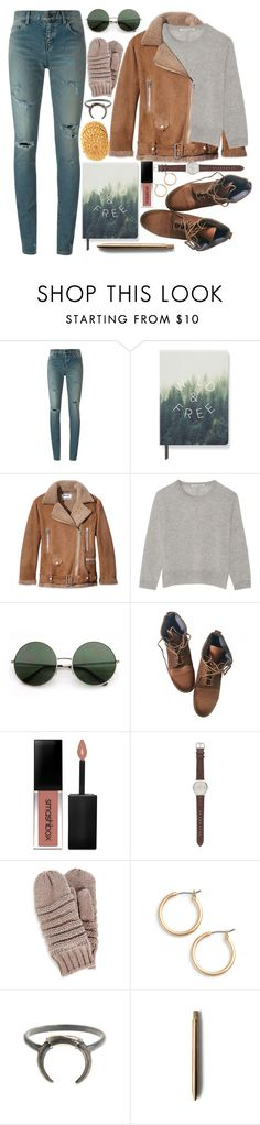 """Let me be here with you tonight"" by karllydolly ❤ liked on Polyvore featuring Yves Saint Laurent, Fringe, Acne Studios, Autumn Cashmere, Topshop, Smashbox, J.Crew, Nordstrom and cashmere"
