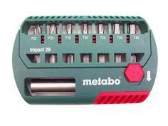 Metabo 628849000 8pc 29mm Impact Bit Box Set Pozi and Torx