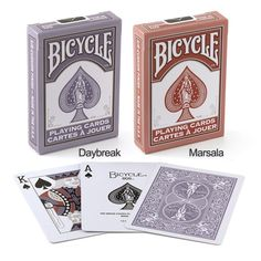 Marsala and Daybreak Fashion playing cards