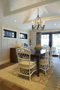 traditional dining room by Regan Baker Design beach bungalow