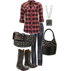 Rocker Chic, created by highfalootinjunk on Polyvore