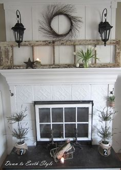 Awesome diy french country decor are offered on our internet site. Have a look and you wont be sorry you did. Fireplace Cover, Fireplace Screens, Fireplace Mantle, Fireplace Ideas, Mantel Ideas, Faux Mantle, Unused Fireplace, Fireplace Console, Mantle Shelf