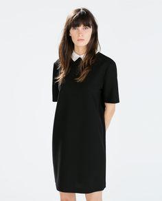 Image 2 of POPLIN COLLAR DRESS from Zara