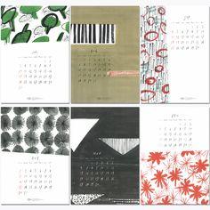 Creative Calendar, Calendar Design, Funny Illustration, Graphic Illustration, Shape Collage, Cover Design, School Calendar, Graphic Design Projects, Japanese Design