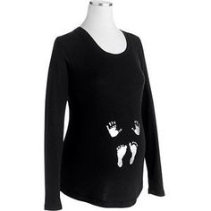 Hands and feet long sleeve maternity shirt/ maternity shirt/ Halloween shirt/ maternity Halloween shirt    on Etsy, $23.00