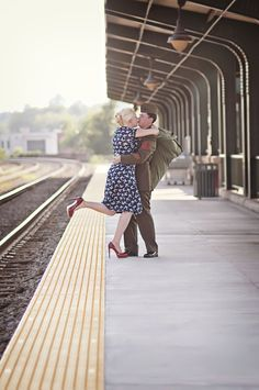 vintage military engagement pictures inspiration 1950s I don't think I'd want mine to look so awkward but cute concept.