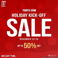 20628e7e44a6 Toby s Sports Holiday Kick-Off Sale - Online Exclusive from Nov 24-26