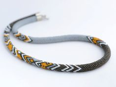 Bead crochet necklace pattern bead crochet rope by Chudibeads