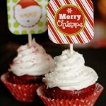 Chocolate Cupcakes with Peppermint Cream Cheese Frosting