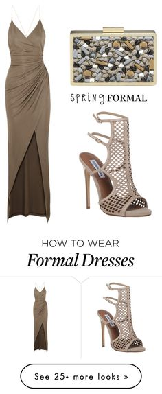 """""""Spring Formal"""" by tania-alves on Polyvore featuring Balmain, Steve Madden and springformal"""
