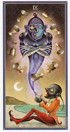Deviant Moon Tarot- Nine of Cups