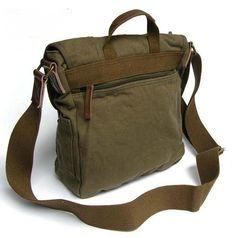 "ModernManBags.com - Virginland ""Commuter"" Men's Canvas Satchel Bag - Army Green, $39.99 (http://www.modernmanbags.com/virginland-commuter-mens-canvas-satchel-bag-army-green/)"