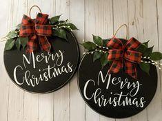 Most recent Screen Merry Christmas Door Hanger Front Door Christmas Decorations, Christmas Signs Wood, Christmas Wreaths, Christmas Crafts, Christmas Door Hangers, Merry Christmas, Christmas Manger, Wooden Door Signs, Wood Signs