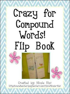 FREEBIE - Compound Word Flip Book printable template.