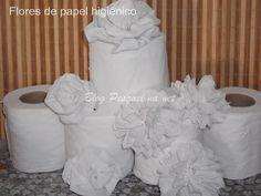 Tutorial de flores de papel higiênico