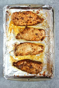 The BEST Oven Baked Chicken Breast recipe! Quick, easy, juicy chicken breasts with just 5 minutes of prep. AND a PRO TIP to ensure they don't dry out