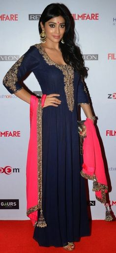 shriya saran in a floor length anarkali.