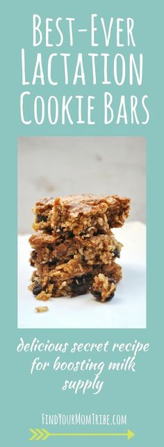 Looking for a delicious lactation cookie recipe? These lactation cookie bars are SO good. And they really work!
