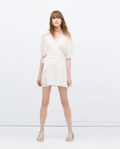 Image 1 of DRESS WITH CROSSOVER FRONT. from Zara