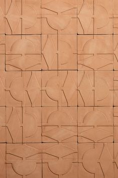 this graphic, three-dimensional wall tile, designed by italian architect cristina celestino for fornace brioni, was inspired by the pathways and hedges of old italian formal gardens and is an exploration of natural cotto molded into geometric, modern shapes. @intdesmag #interiordesign #fornacebrioni Geometric Patterns, Wall Texture Patterns, Tiles Texture, Tile Patterns, Textures Patterns, Formal Gardens, Modern Gardens, Japanese Gardens, Small Gardens