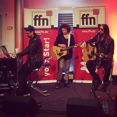 MARS earlier today with Germany's Radio #FFN — #LoveLustFaithDreamsTour