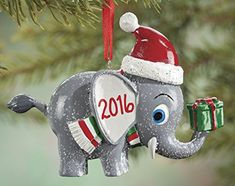 Personalized Christmas Elephant Ornament -- Check out this great product.-It is an affiliate link to Amazon. #SeasonalDecor