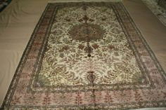 6'x9' Handmade Hand-knotted 450 kpsi Silk Oriental Persian Tabriz Rug B502