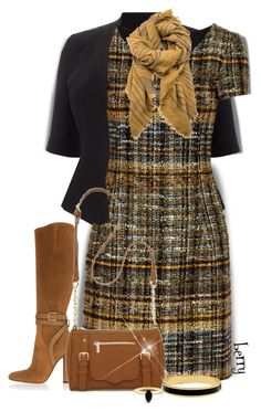 Work day by berry1975 on Polyvore featuring polyvore, fashion, style, Oscar de la Renta, Studio 8, Gucci, New Directions, Halcyon Days, Bing Bang, clothing, Boots, dress and plaid