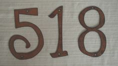 Individual House Numbers OR Letters- Rustic Metal - 4 inch TO 8 inch - Size Options - Buy as many as you need
