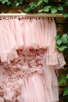Amazing what 3 packs of Ikea curtains can do! We are making an oversized wall hanging with a weave look and you wont believe how easy it is to make. Use this diy tulle backdrop for your cake table or hang it in your office Tulle Backdrop, Tulle Poms, Diy Wedding Backdrop, Deco Boheme, Quilting Room, Tissue Paper Flowers, Diy Centerpieces, Diy Embroidery, Diy Wall Decor
