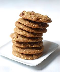 Vegan Chocolate Chip Cookies with Millet (Vegan Cake Cheap) Tasty Vegetarian Recipes, Vegan Recipes Easy, Vegan Desserts, Organic Recipes, Real Food Recipes, Delicious Desserts, Dessert Recipes, Yummy Food, Vegan Food